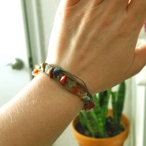 Jewelry - Colored Stone Wrap Bracelet